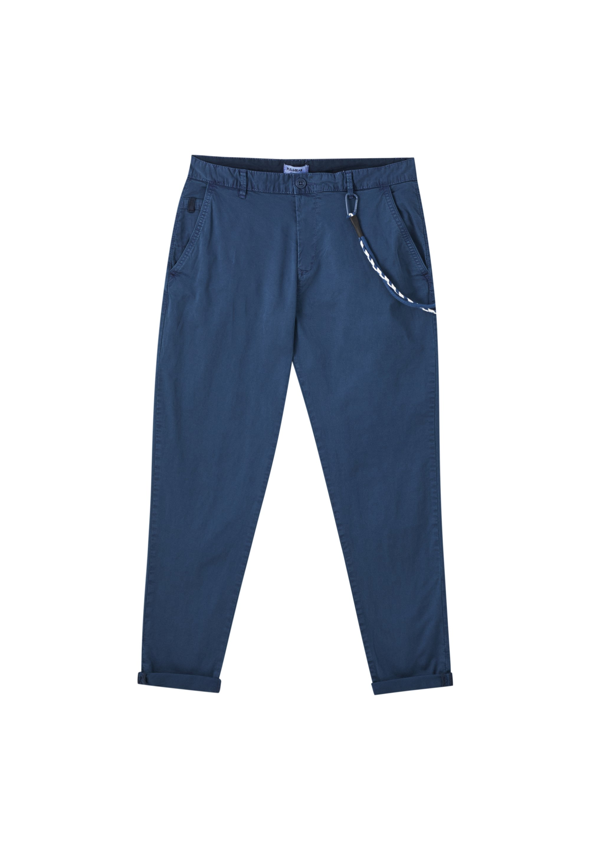 Pull&bear Chino - Mottled Dark Blue