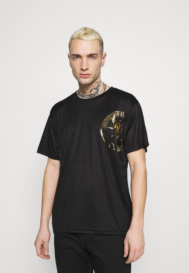 DONNAY X CARLO COLUCCI - T-shirt con stampa - black/gold