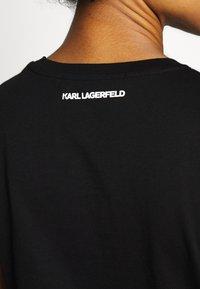 KARL LAGERFELD - PROFILE RHINESTONE TEE - T-shirt z nadrukiem - black - 5