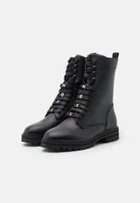 Mexx - FLUX - Lace-up ankle boots - black - 2