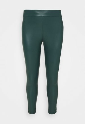 HIGH WAIST - Leggings - Trousers - deep emerald/khaki