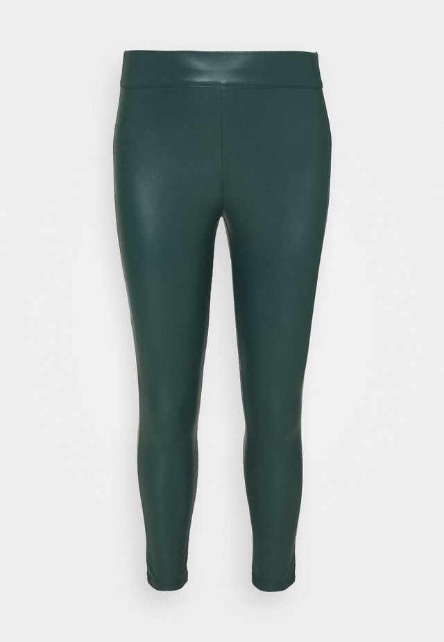 HIGH WAIST - Leggings - deep emerald/khaki