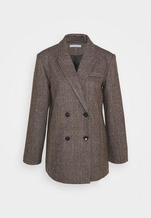 OVERSIZED - Krátký kabát - dark brown