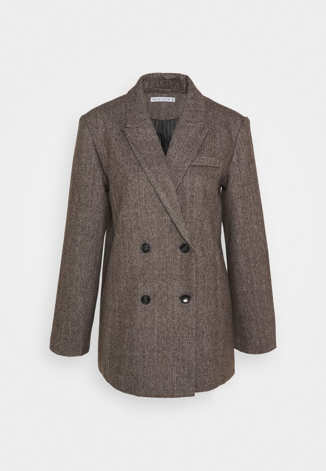 OVERSIZED - Manteau court - dark brown