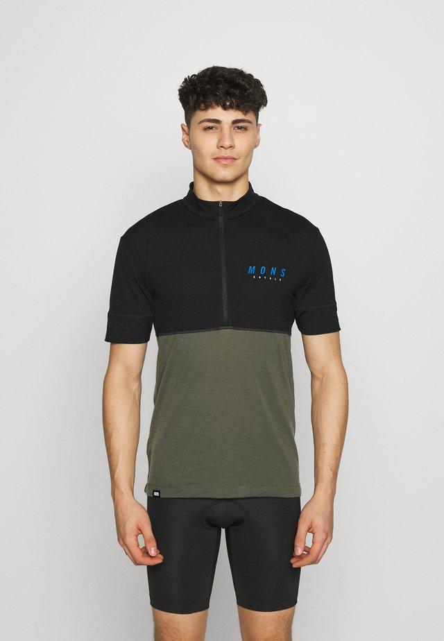 CADENCE HALF ZIP - T-Shirt print - black/olive