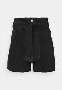 AllSaints - DIXIE PAPERBAG - Denim shorts - washed black - 0