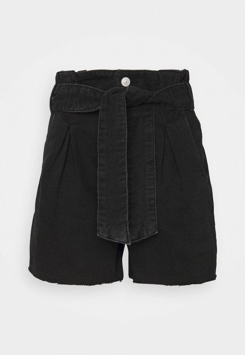 AllSaints - DIXIE PAPERBAG - Denim shorts - washed black