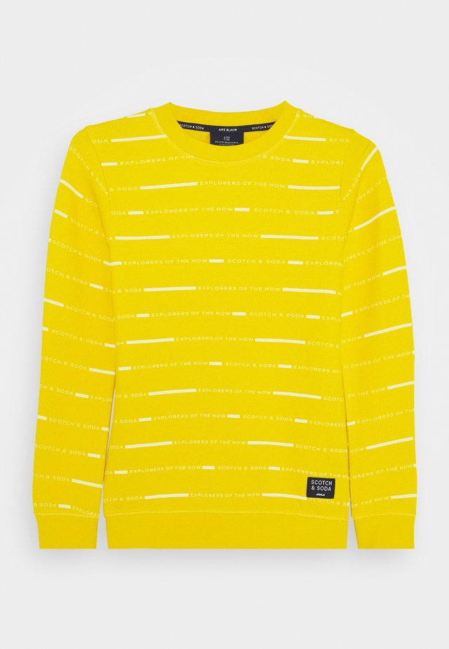 LONG SLEEVE TEE WITH ALLOVER PRINT - Sweatshirts - yellow