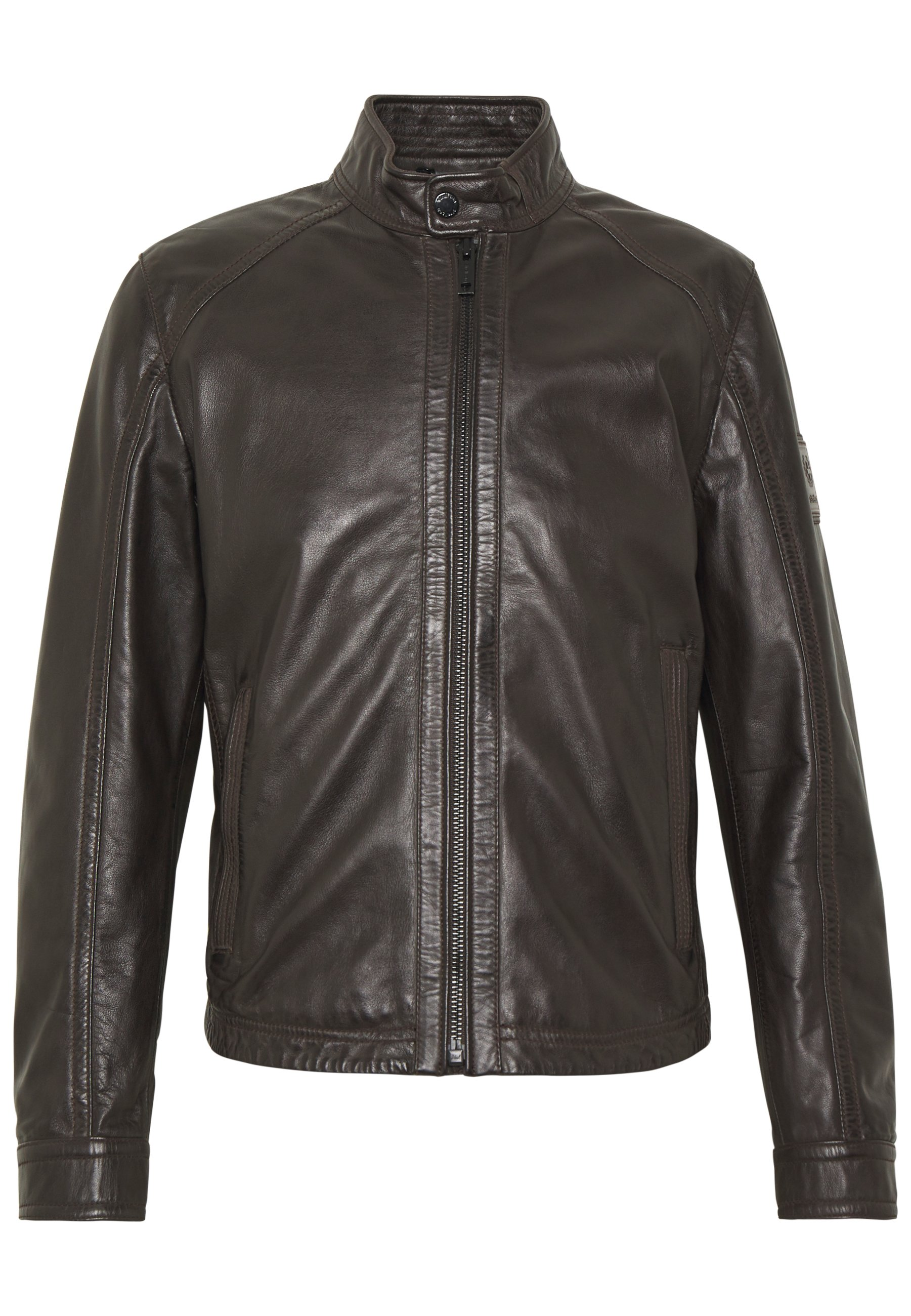 Strellson FLAG - Veste en cuir - dark brown