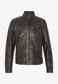 Strellson - FLAG - Leather jacket - dark brown - 6