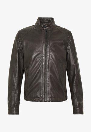 FLAG - Leather jacket - dark brown