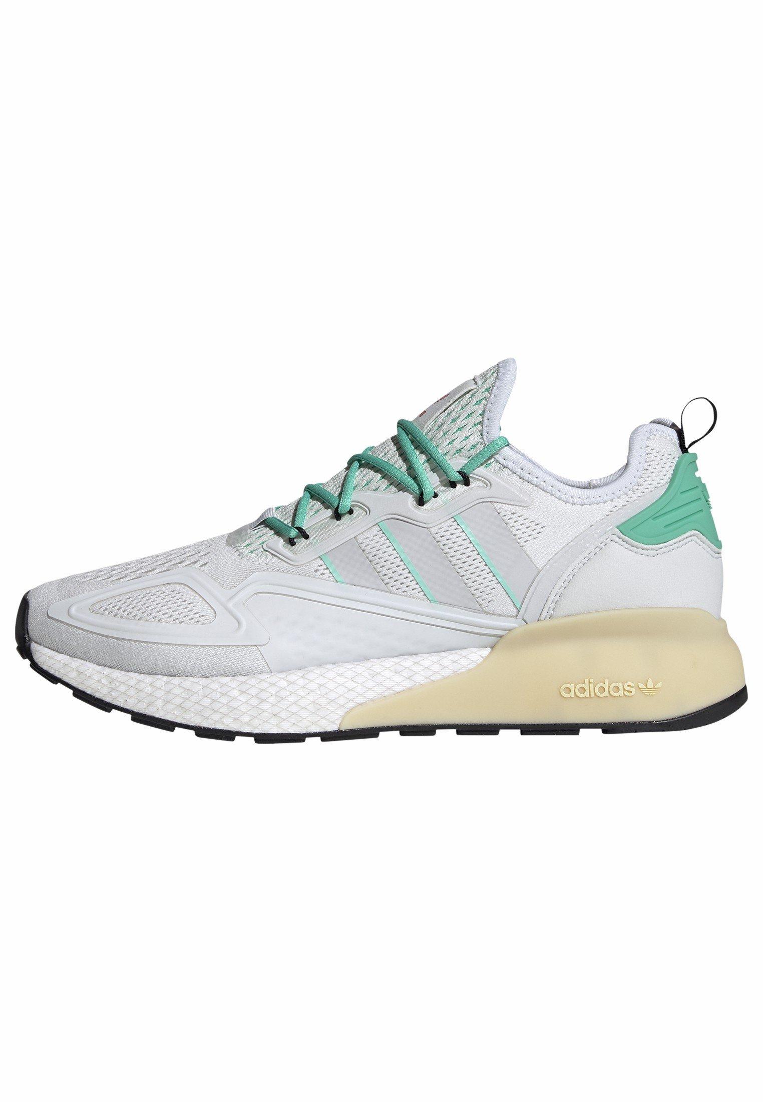 adidas Originals ZX 2K BOOST - Sneakers basse - white/grey/ green | Scarpe Sconto
