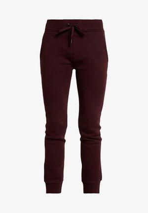 Teplákové kalhoty - mahogany