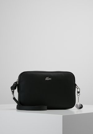 SQUARE CROSSOVER BAG - Across body bag - black
