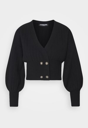 MEEKER - Strickjacke - black