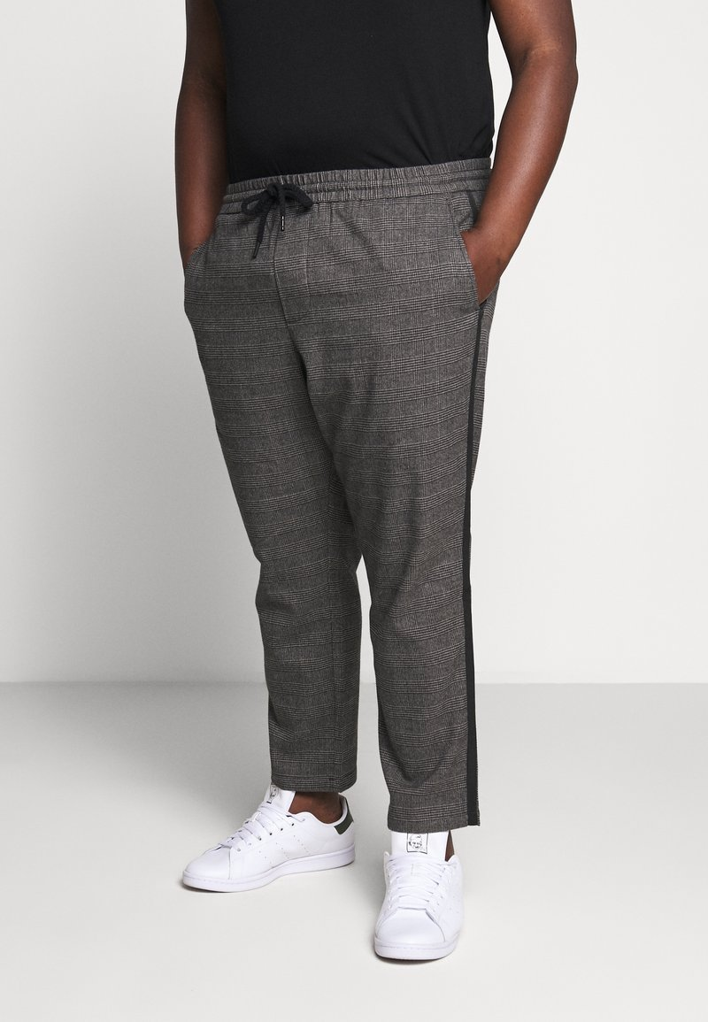 Only & Sons - ONSLINUS PANT CHECKS  - Trousers - grey