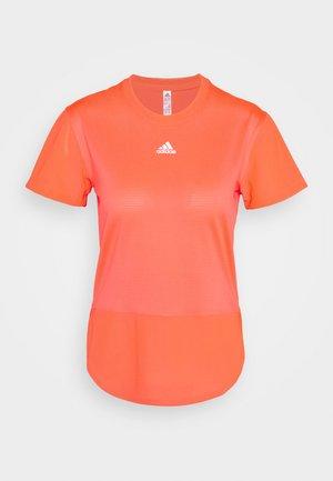 TEE - T-shirt med print - signal pink
