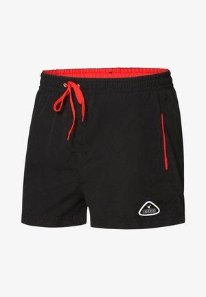 Zwemshorts - black/red