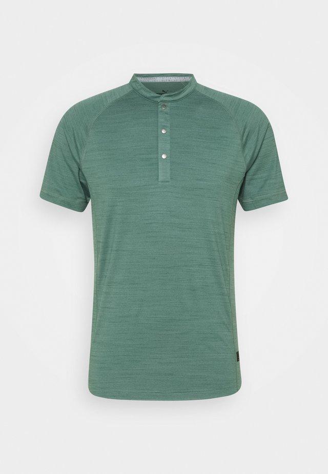 GW CLOUDSPUN MAT HENLEY - T-shirts print - blue spruce heather