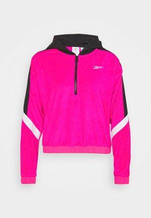 WOR WARMING 1/4 ZIP - Hoodie - pink