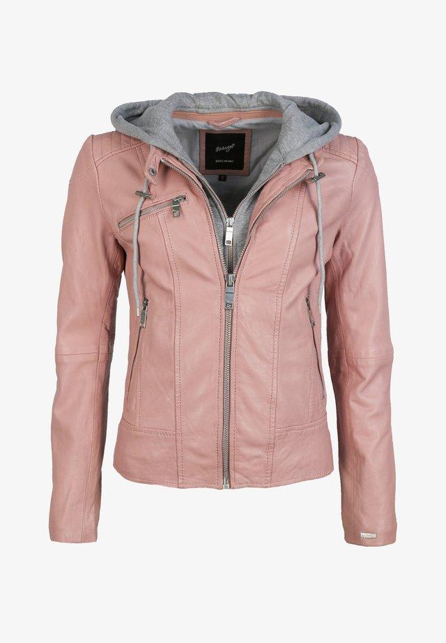 Leather jacket - old rose