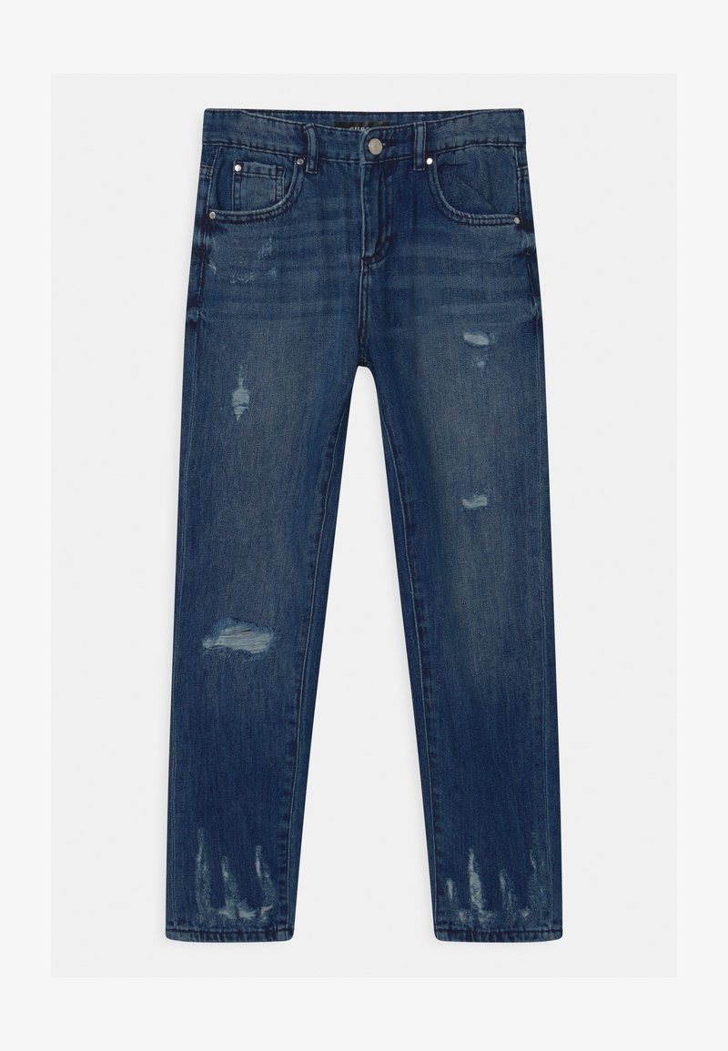 Guess - JUNIOR MUM FIT - Džíny Relaxed Fit - blue denim
