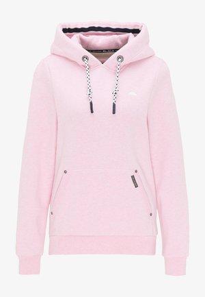 Hoodie - rosa melange