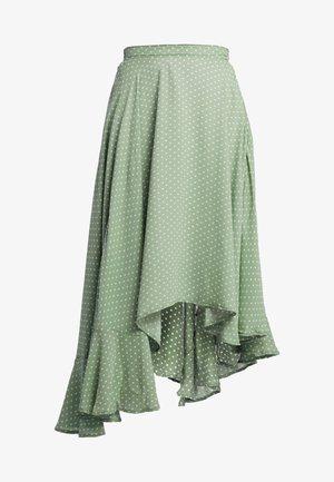 HERBAGE BUTTERFLY SKIRT - Maxi skirt - green