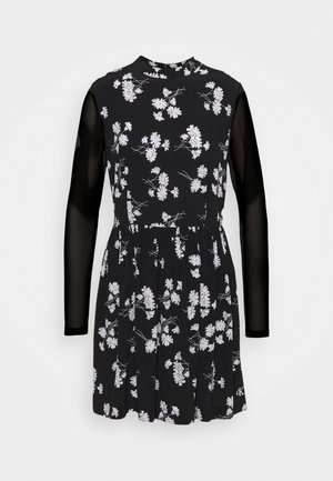 FLORAL DRESS - Day dress - black