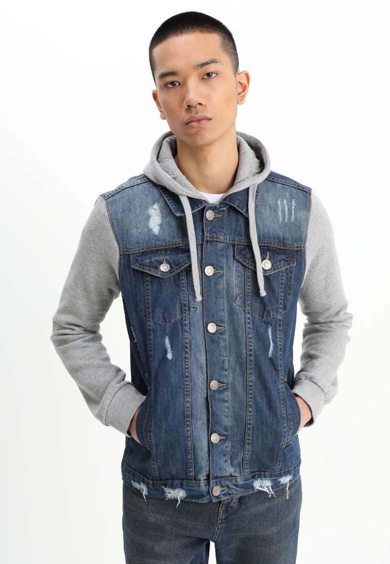 Brave Soul - Denim jacket - blue denim/grey