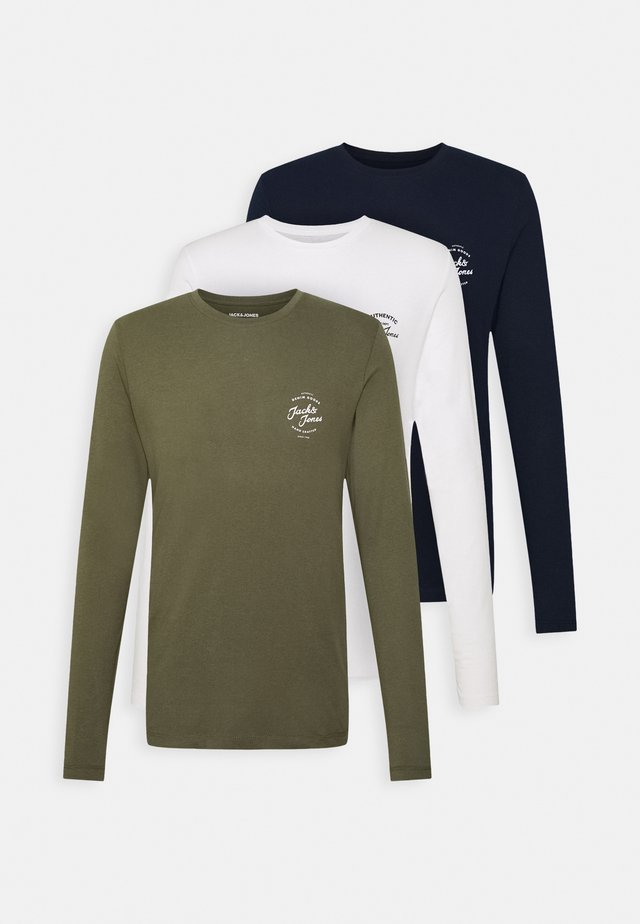 JJHERO TEE CREW NECK 3PACK - Langærmede T-shirts - cloud dancer