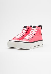 Diesel - ASTICO S-ASTICO MC WEDGE SNEAKERS - High-top trainers - pink - 2