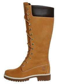Timberland - Šněrovací vysoké boty - wheat nubuck - 4