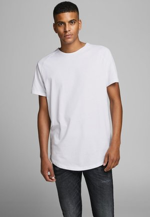 JJECURVED TEE O NECK - T-shirt basic - white