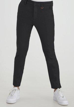 PZCLARA COATED - Trousers - black beauty