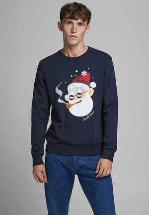 X-MAS-PRINT - Sweatshirt - navy blazer