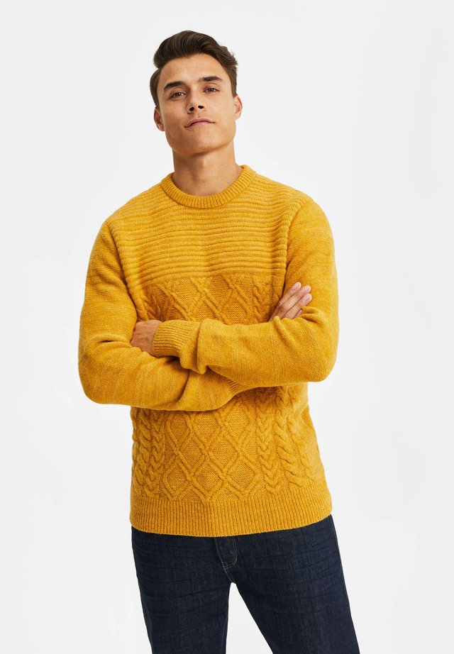 Jersey de punto - ochre yellow