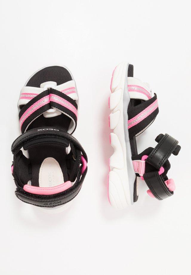 LUNARE GIRL - Sandały - black/white