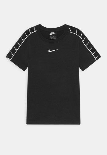 TEE TAPE - Camiseta estampada - black/white