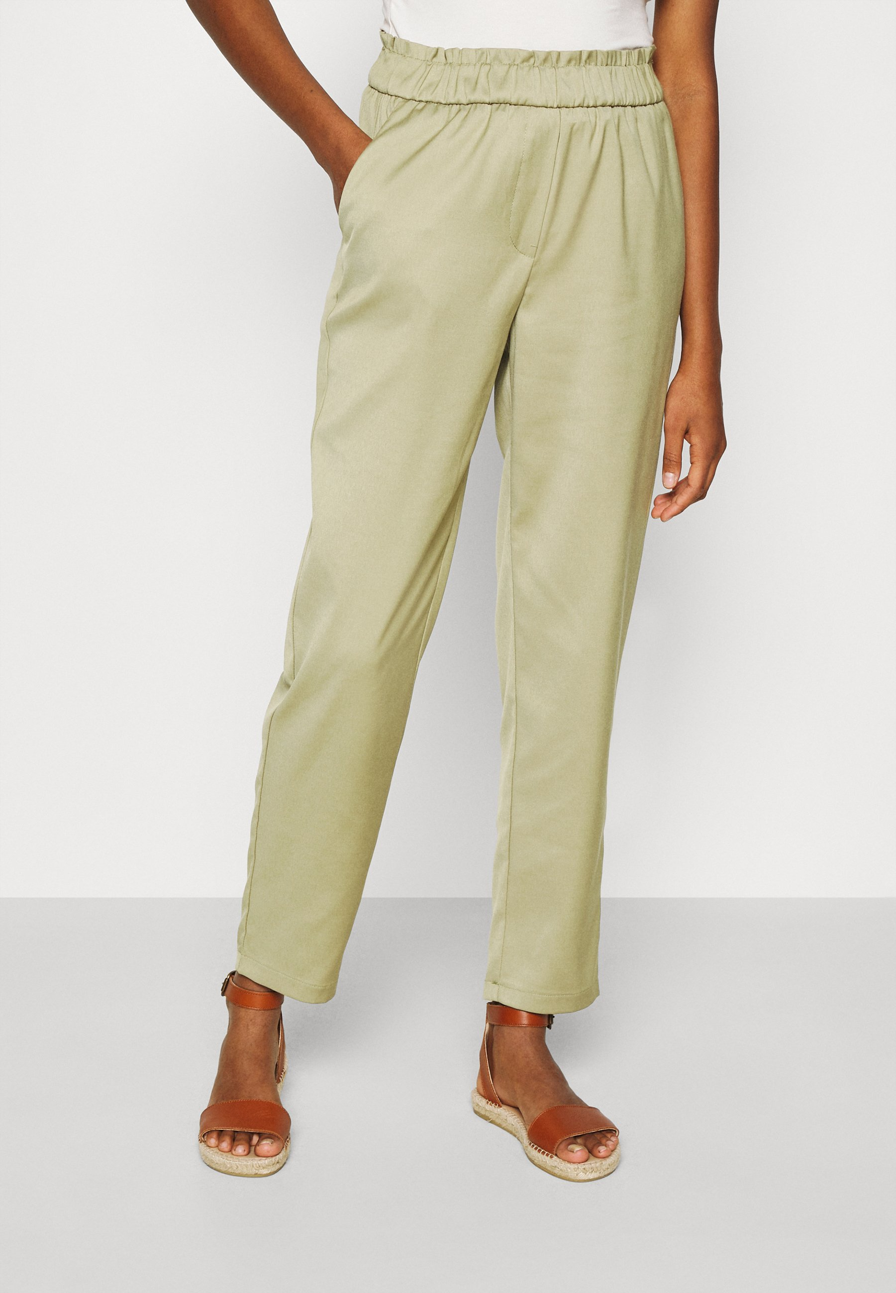 Women ONLNORAH FRILL PANT - Trousers