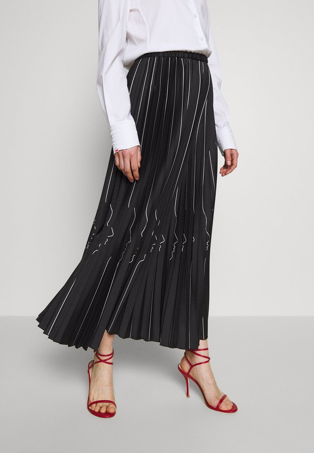 SKIRT - Gonna a pieghe - nero