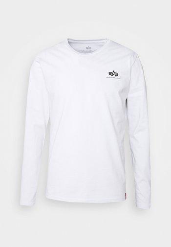 BACK PRINT HEAVY - Long sleeved top - white