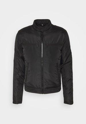 PADDED MOTO JACKET - Light jacket - black