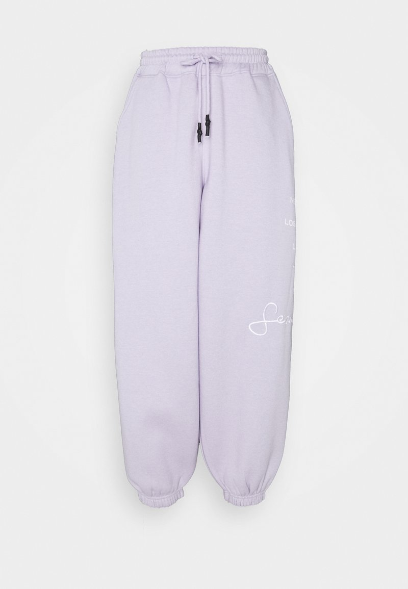 Missguided - SJXMG CITY LOGO OVERSIZED JOGGERS - Tracksuit bottoms - lilac
