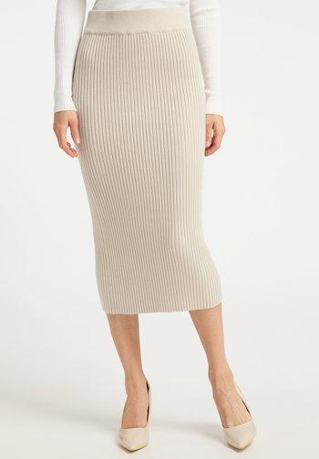 Pencil skirt - champagner