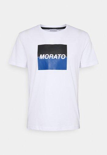 SLIM FIT WITH LOGO  - Print T-shirt - bianco