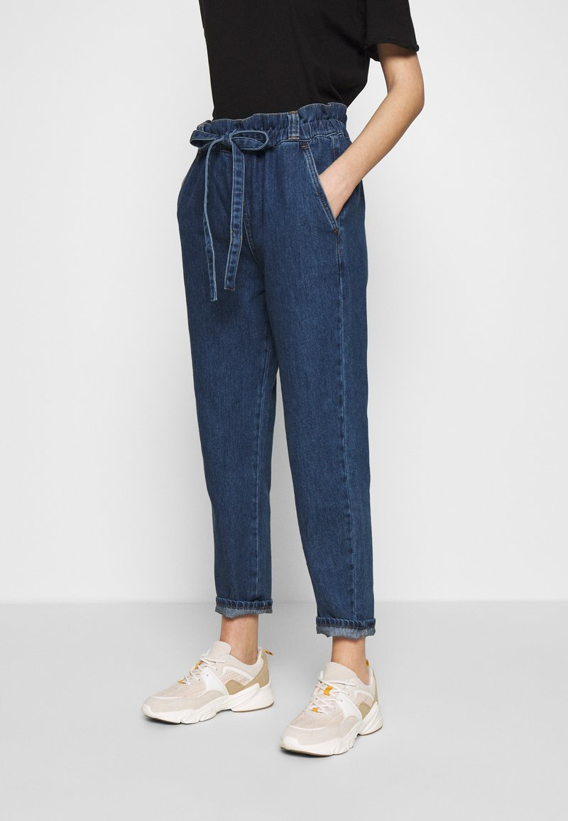 Benetton - TROUSERS - Relaxed fit jeans - dark blue