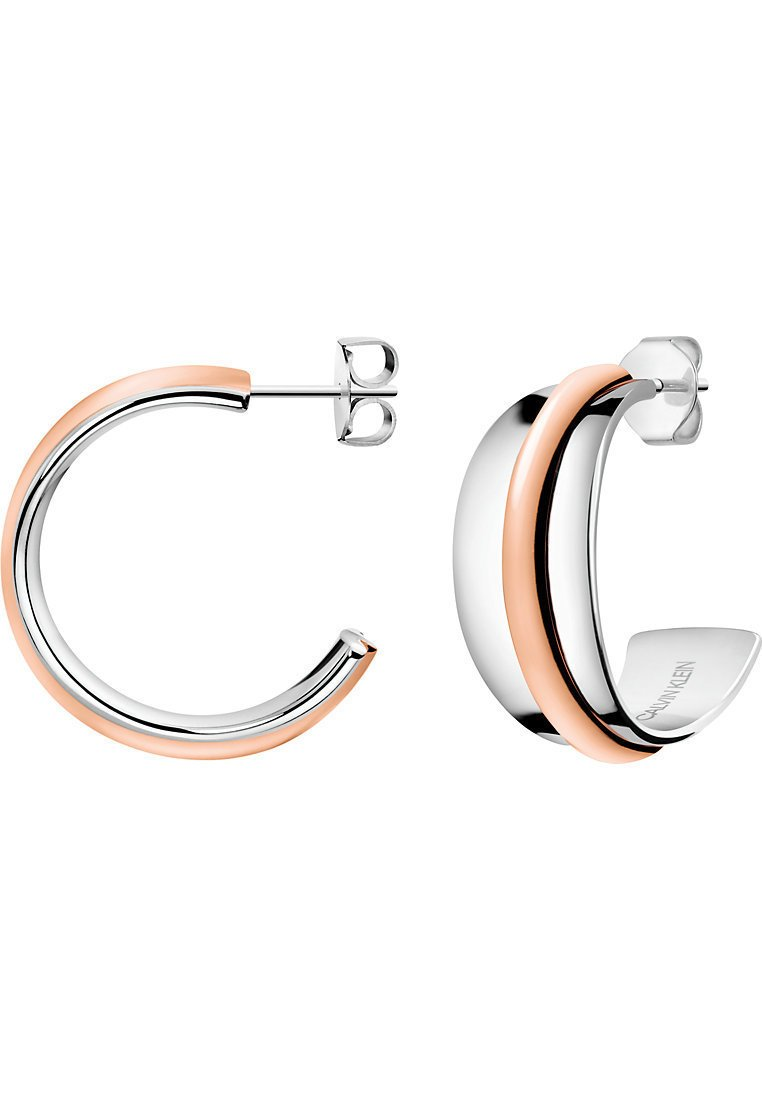 Calvin Klein - CALVIN KLEIN DAMEN-CREOLE SLINKY EDELSTAHL - Earrings - bicolor