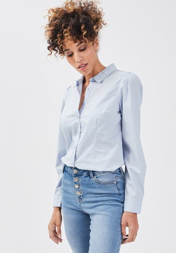 Button-down blouse - bleu pastel