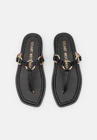 Stuart Weitzman - LALITA FLAT  - Sandály s odděleným palcem - black - 4